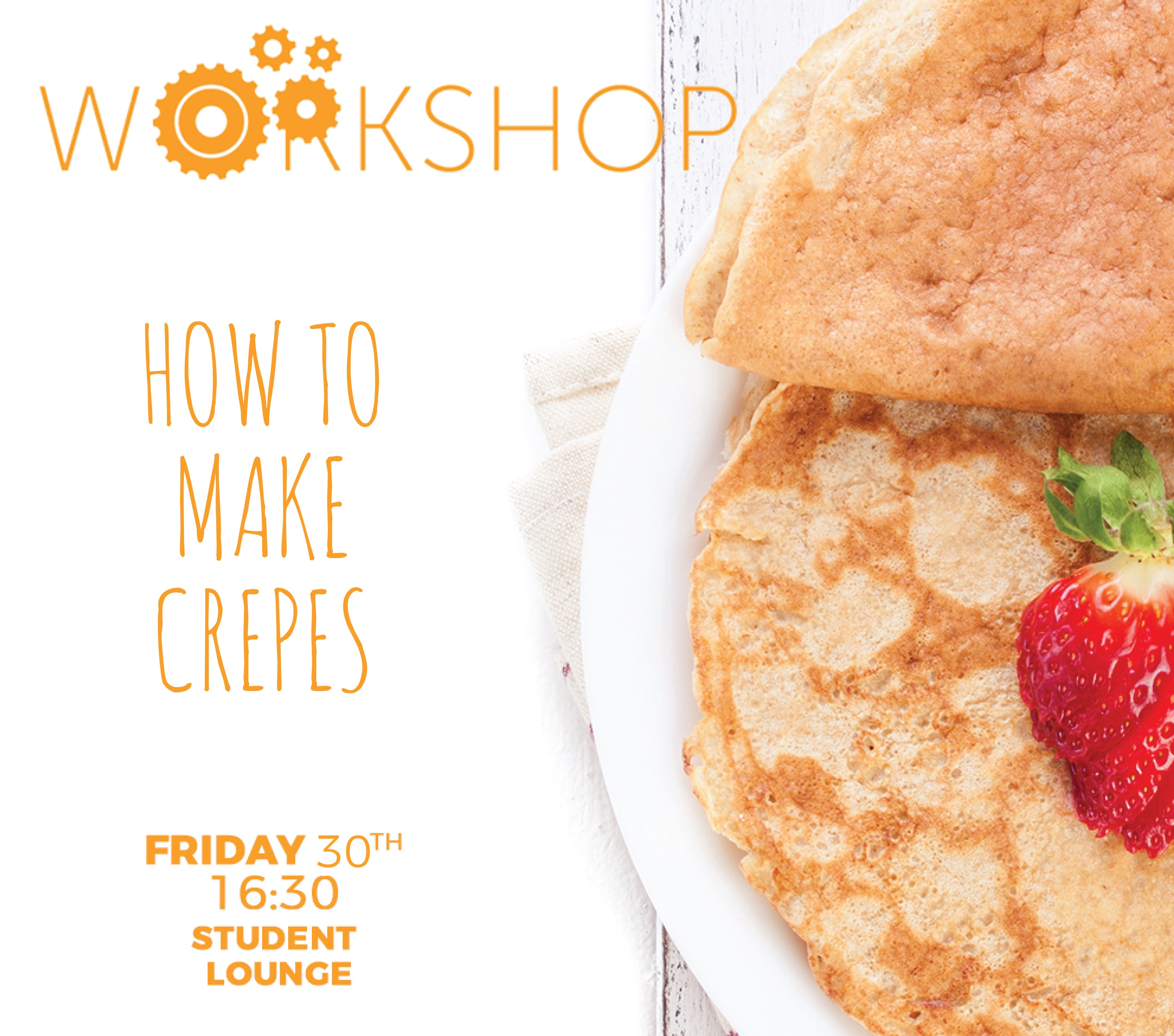 Last day of March's activities calendar in SEDA with Crepe